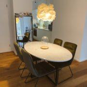 marmeren tafel ovaal