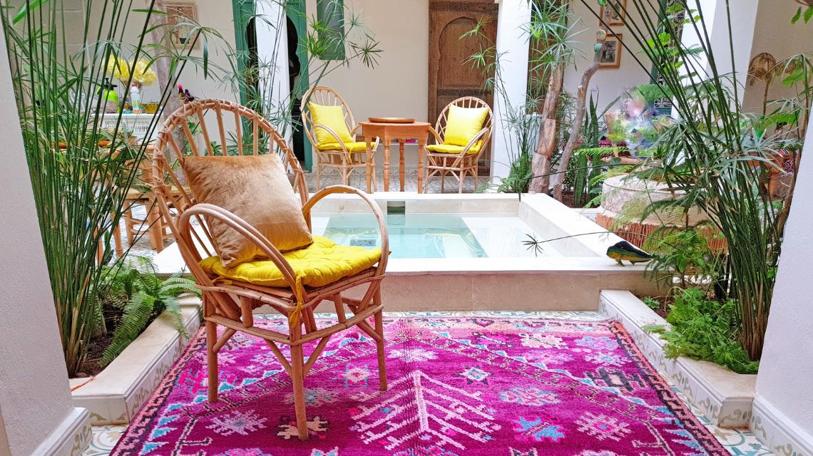 Marokkaanse stijl interieur